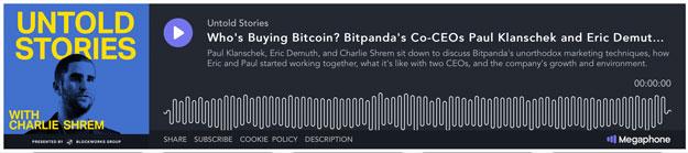 Untold Stories Podcast mit Bitpanda CEO